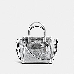 COACH COACH SWAGGER 21 CARRYALL IN PEBBLE LEATHER - DARK GUNMETAL/SILVER - F37444