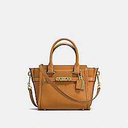 COACH COACH SWAGGER 21 IN PEBBLE LEATHER - LIGHT GOLD/LIGHT SADDLE - F37444