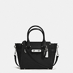 COACH COACH SWAGGER 21 CARRYALL IN PEBBLE LEATHER - SILVER/BLACK - F37444