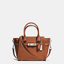 COACH COACH SWAGGER 21 CARRYALL IN PEBBLE LEATHER - SILVER/SADDLE - F37444
