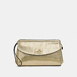 FLAP CLUCTH - WHITE GOLD/LIGHT GOLD - COACH F37550