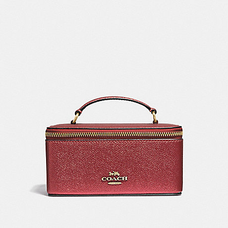 COACH VANITY CASE - METALLIC CURRANT/LIGHT GOLD - F37568