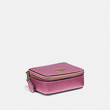 COACH TRIPLE PILL BOX - METALLIC ANTIQUE BLUSH/LIGHT GOLD - F37569