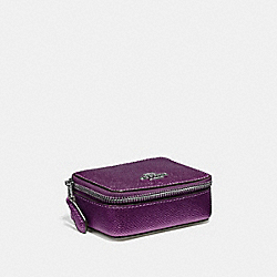 TRIPLE PILL BOX - METALLIC RASPBERRY/LIGHT GOLD - COACH F37569