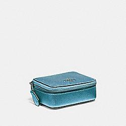 TRIPLE PILL BOX - METALLIC ICE/SILVER - COACH F37569