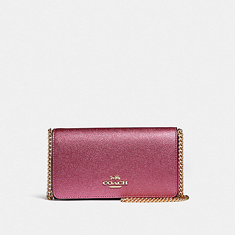 COACH CROSSBODY - METALLIC ANTIQUE BLUSH/LIGHT GOLD - F37570