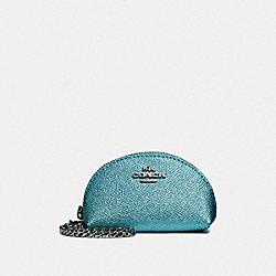 HALF MOON COIN CASE - BLUE/SILVER - COACH F37572