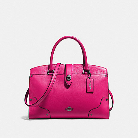 COACH MERCER SATCHEL 30 - CERISE/DARK GUNMETAL - f37575