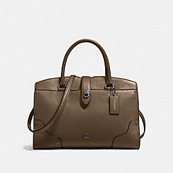 MERCER SATCHEL 30 - FATIGUE/DARK GUNMETAL - COACH F37575