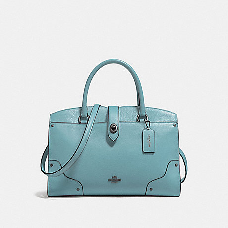 COACH MERCER SATCHEL 30 - CLOUD/DARK GUNMETAL - F37575