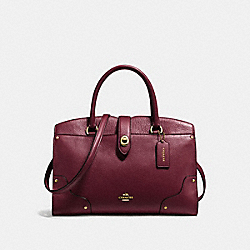 COACH MERCER SATCHEL 30 - BURGUNDY/LIGHT GOLD - F37575