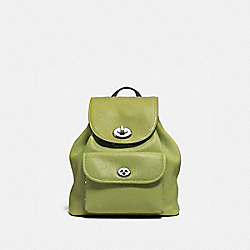 MINI TURNLOCK RUCKSACK - SILVER/CITRINE - COACH F37581