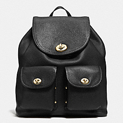 COACH TURNLOCK RUCKSACK - LIGHT GOLD/BLACK - F37582