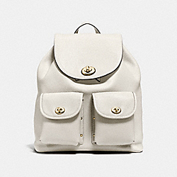 TURNLOCK RUCKSACK IN POLISHED PEBBLE LEATHER - LIGHT GOLD/CHALK - COACH F37582