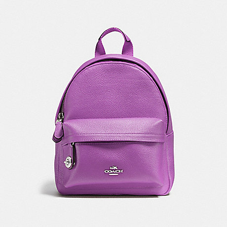 COACH MINI CAMPUS BACKPACK - SILVER/ORCHID - f37590