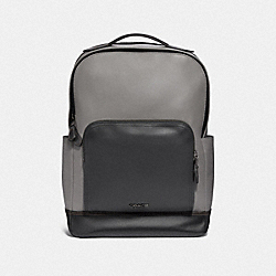 GRAHAM BACKPACK - HEATHER GREY/BLACK ANTIQUE NICKEL - COACH F37599