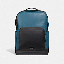 GRAHAM BACKPACK - MINERAL/BLACK ANTIQUE NICKEL - COACH F37599