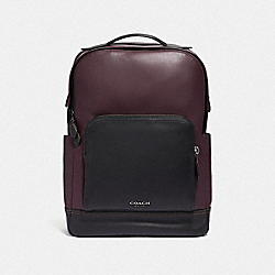 GRAHAM BACKPACK - OXBLOOD/BLACK ANTIQUE NICKEL - COACH F37599