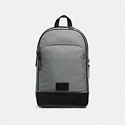 SLIM BACKPACK - HEATHER GREY/BLACK ANTIQUE NICKEL - COACH F37610