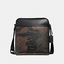 CROSSBODY IN SIGNATURE CANVAS WITH HALFTONE CAMO PRINT - GREEN MULTI/BLACK ANTIQUE NICKEL - COACH F37611