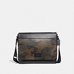 MESSENGER IN SIGNATURE CANVAS WITH HALFTONE CAMO PRINT - GREEN MULTI/BLACK ANTIQUE NICKEL - COACH F37612