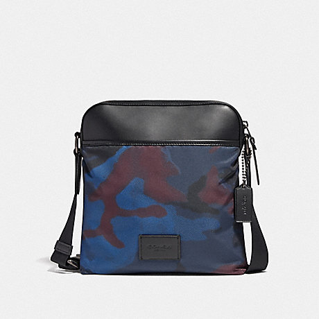 COACH CROSSBODY WITH HALFTONE CAMO PRINT - BLUE MULTI/BLACK ANTIQUE NICKEL - F37614
