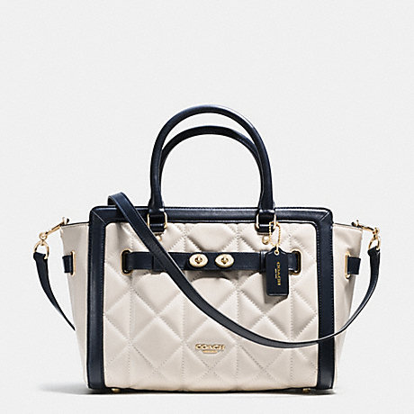 COACH BLAKE CARRYALL IN QUILTED COLORBLOCK LEATHER - IMITATION GOLD/CHALK/MIDNIGHT - f37620