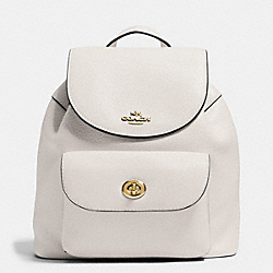 MINI BILLIE BACKPACK IN PEBBLE LEATHER - f37621 - IMITATION GOLD/CHALK