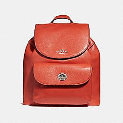 MINI BILLIE BACKPACK - ORANGE RED/SILVER - COACH F37621