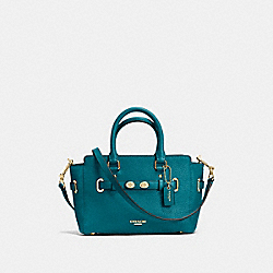 MINI BLAKE CARRYALL IN BUBBLE LEATHER - f37635 - IMITATION GOLD/ATLANTIC