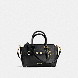 COACH MINI BLAKE CARRYALL IN BUBBLE LEATHER - IMITATION GOLD/BLACK - F37635