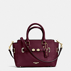 MINI BLAKE CARRYALL IN BUBBLE LEATHER - f37635 - IMITATION GOLD/BURGUNDY