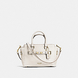 COACH MINI BLAKE CARRYALL IN BUBBLE LEATHER - IMITATION GOLD/CHALK - F37635
