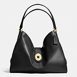 COACH CARLYLE SHOULDER BAG IN SMOOTH LEATHER - IMITATION GOLD/BLACK - F37637