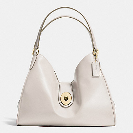 COACH f37637 CARLYLE SHOULDER BAG IN SMOOTH LEATHER IMITATION GOLD/CHALK