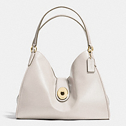 COACH CARLYLE SHOULDER BAG IN SMOOTH LEATHER - IMITATION GOLD/CHALK - F37637