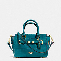 MINI BLAKE CARRYALL IN CROC EMBOSSED LEATHER - f37665 - IMITATION GOLD/ATLANTIC