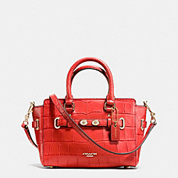 MINI BLAKE CARRYALL IN CROC EMBOSSED LEATHER - f37665 - IMITATION GOLD/CARMINE