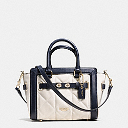 MINI BLAKE CARRYALL IN QUILTED COLORBLOCK LEATHER - f37666 - IMITATION GOLD/CHALK/MIDNIGHT