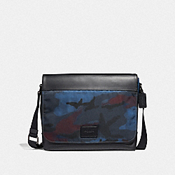 MESSENGER WITH HALFTONE CAMO PRINT - BLUE MULTI/BLACK ANTIQUE NICKEL - COACH F37667