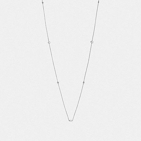 COACH SIGNATURE CHAIN LONG NECKLACE - SILVER - F37670
