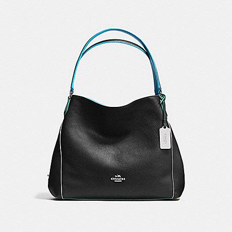 COACH EDIE SHOULDER BAG 31 - BLACK/TRICOLOR/SILVER - f37721