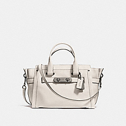 COACH SOFT SWAGGER IN SOFT GRAIN LEATHER - f37732 - DARK GUNMETAL/CHALK