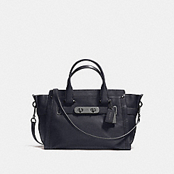 COACH SOFT SWAGGER IN SOFT GRAIN LEATHER - DARK GUNMETAL/NAVY - COACH F37732