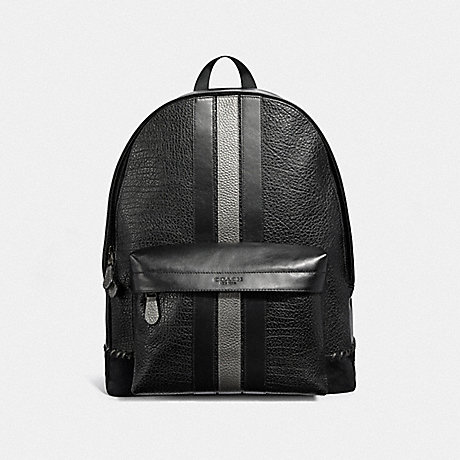 COACH CHARLES BACKPACK WITH BASEBALL STITCH - BLACK/BLACK ANTIQUE NICKEL - F37749