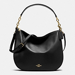 COACH CHELSEA HOBO 32 IN CALF LEATHER - LIGHT GOLD/BLACK - F37755