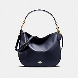 CHELSEA HOBO 32 - NAVY/LIGHT GOLD - COACH F37755