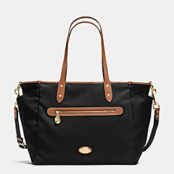 COACH SAWYER BABY BAG IN POLYESTER TWILL - IMITATION GOLD/BLACK - F37758
