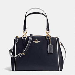 COACH MINI CHRISTIE CARRYALL IN EDGEPAINT CROSSGRAIN LEATHER - IMITATION GOLD/MIDNIGHT/CHALK - F37762