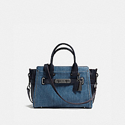 COACH SOFT SWAGGER 27 IN COLORBLOCK - DENIM/NAVY/DARK GUNMETAL - COACH F37772